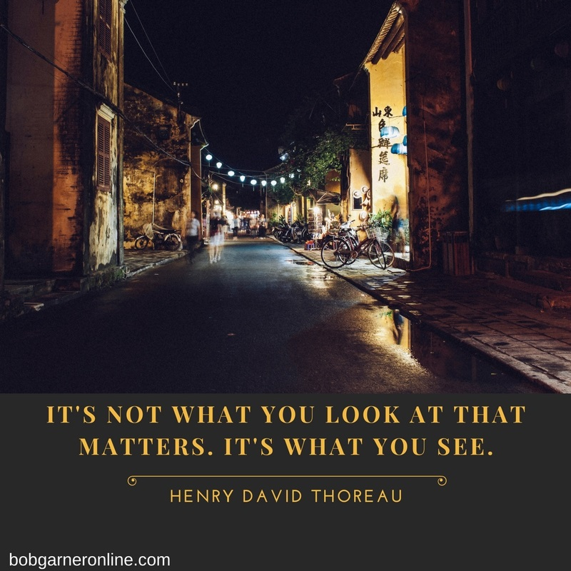 It's Not What You Look At That Matters. It's What You See
