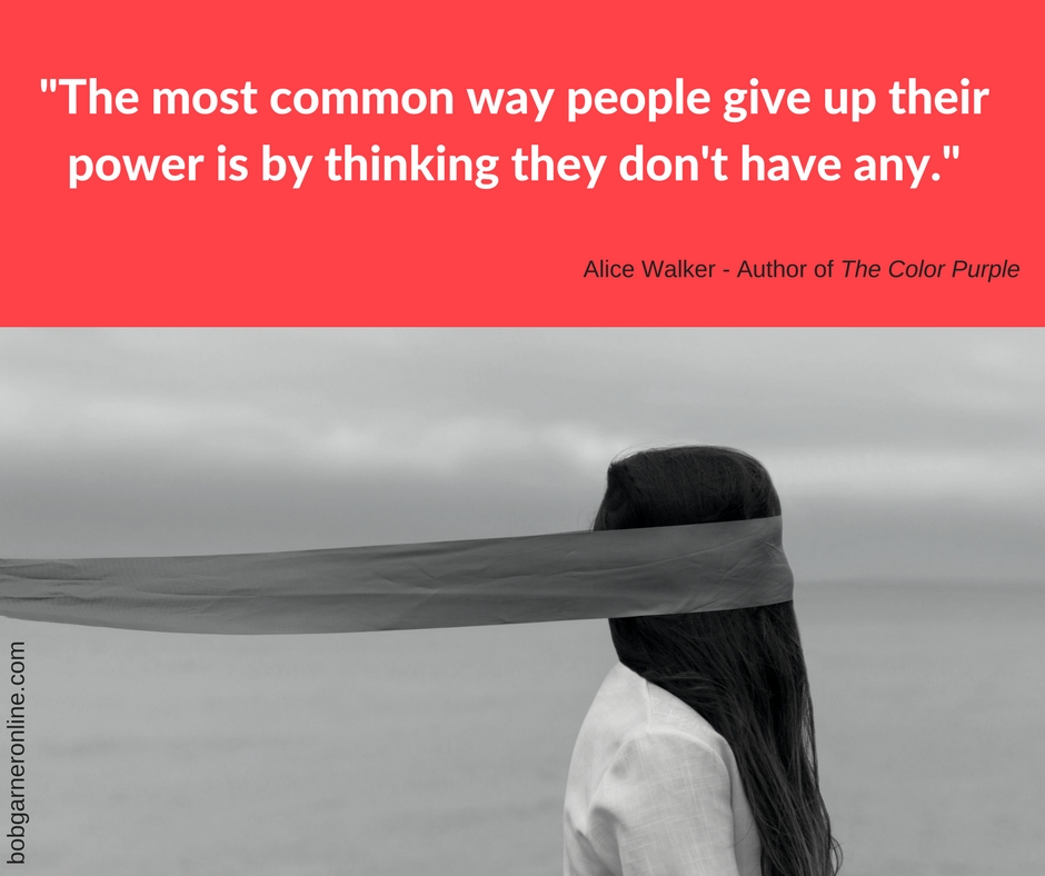 The most common way for people to give up their powers is to think they din't have any.