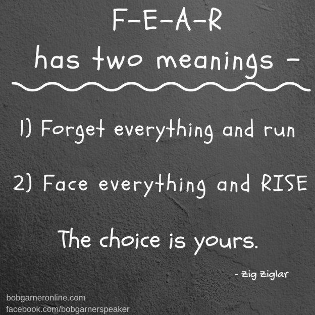 Fear has two meanings -