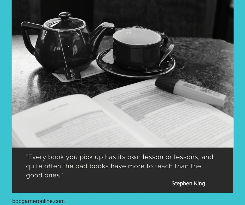 Stephen King stated every book has its lesson or lessons. What are you reading and have you gleaned any lesson from what you've read?
